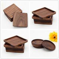 Wooden Coasters Black Walnut Cup Mat Bowl Pad Coffee Tea Cup Mats Dinner Plates Kitchen Home Bar Tools