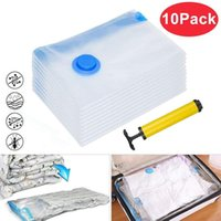 Storage Bags 60x80cm Space Saving Vacuum Bag Seal Compressed Organizer Home With Hand Pump