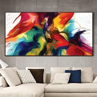 Canvas Painting Wall Posters and Prints Abstract colorful clouds Mural Art Pictures For Living Room Decoration Dining Hotel Home Decor