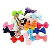 2-дюймовый популярный Mix Color Small Grosgrain ленты луки стрижки дети бантики волос зажимы для волос дети волос аксессуары 350 U2