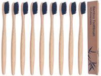 Yeelhool - 30pcs Biodegradabile Bamboo Spazzolini da denti, setole morbide, naturali, ecologici