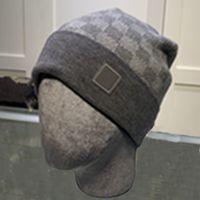Luxo chapéu de malha designer beanie cap ski chapéus snapback máscara homens encaixotado inverno crânio tampões unisex cashmere xadrez letras ocasional moda exterior alta qualidade