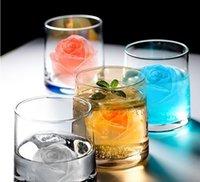 3D Rose Moule Savon en silicone Moules de bougie Outils Cube de glace Plateau DIY House Icemaker Whisky Vin Décoration Accessoires GGA5030