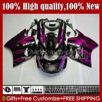 Body Pink Flames Kit para Kawasaki Ninja ZZR 1100 CC ZZR1100 ZX11 R 1990 1991 1992 1993 1994 1995 31HC.83 ZX 11 R 11R ZX-11 R ZZR-1100 ZX-11R ZX11R 96 97 98 99 00 01 Carnacio del OEM