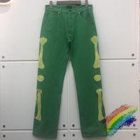 Pantalon de cargaison Kapital multi-poche Homme Femmes Bord Broderie Pantalons Vertes Hommes