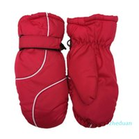 Warm Ski Gloves Boys Girls Sports Waterproof Windproof Non-slip Snow Mittens Extended Wrist Skiing Gloves 1 pair