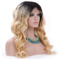 1B 613 ombre blonde human hair wigs with dark roots loose wave Brazlian lace front wig 13*4