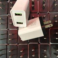Wholesale Настенные зарядные устройства 5V 2A US Plug 2UUSB Путешествия Главная Настенное Зарядное устройство Адаптер Универсальный AC Адаптер питания для смартфона