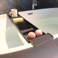 Hooks & Rails Bathroom Shelf Drain Bathtub Rack Plastic Bath Basin And Storage Accessories