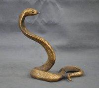 Artware Handmade Bronze Bronze Estátua afortunado Cobra Escultura Coleção Ornaments Crafts
