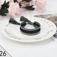 Женщины очаровательные браслеты женские браслеты мода кисточка классический цвет плетеный винтажный ручной веревка