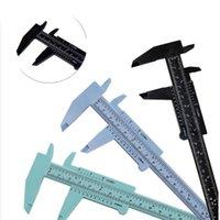 플라스틱 버니어 캘리퍼스 게이지 마이크로 미터 0-150mm 미니 학생 눈금자 표준 ABS 정확한 측정 도구 5 색