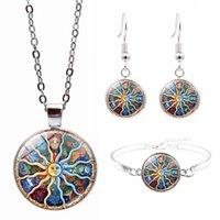 Женские наборы солнце луны созвездие браслет ожерелье серьги подарки мода ювелирная вечеринка