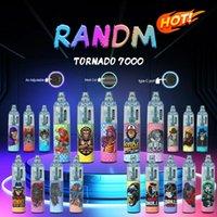 Factory Price RandM Tornado 7000 Puffs Disposable E cigarettes Pod Device Powerful Battery 14ml Prefilled Cartridge Mesh Coil RGB light Glowing Vape Pen Kit