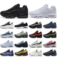 air max 95 running shoes mens trainers Triple Black White Worldwide Neon Aqua University Blue TT Bred women chaussures outdoor sport sneakers