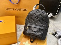 Louis Vuitton Monogram Tasarımcılar Üst Lüks Marka Yüksek Kaliteli Bayanlar Palm Yaylar Omuz Mini Sırt Çantası Deri Çocuklar Kadın Baskılı Fashio