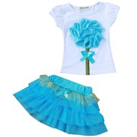 Clothes For Girls Lace Vest T-shirt Tutu Skirt Tracksuit Sport Suits Children Clothing Sets Kids Costume Baby 210507