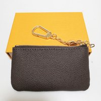 Марка Маленький кошелек для монеты для монеты ключа сумка с металлической цепью многоцветный 2021 натуральная кожа роскошный дизайнеры кошельки