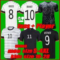 Fanlar oyuncu versiyonu 2021 Almanya futbol formaları TAH Gundogan Hummels Gnabry Werner Kroos 20 21 Kimmich Reus Brandt Haertz Erkekler + Kadınlar Futbol Gömlek Boyutu S-4XL