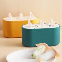 Creative sorvete molde caseiro feita caixa de geléia de picolé fazendo cozinha ferramentas bandeja de cozimento moldes
