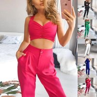 Women's Two Piece Pants Straight Slim Formal Lady Blazer Set Office Women And Suit Business 3 Ol Clothing Top+Jacket+Pant D30
