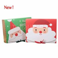 2021 Christmas Eve Big Gift Box Santa & Fairy Design Papercard Kraft Present Party Favour Activity Box Red Green
