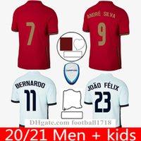 الصفحة الرئيسية البرتغالية بعيدا Soccer Jerseys Kit Joao Felix 2021 Ronaldo Fernandes كرة القدم قميص 20 21 Portuguesa Men Kids Sets Camisetas de Futbol Camisa Mailleot Kits
