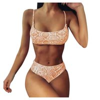 Women Bandeau Bandage Bikini Set Push-up Brazilian Swimwear Beachwear Swimsuit Maillot Sexy Biquini 2021 Woman Mujer One-Pieces
