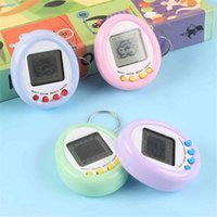 Yeni Macaron Mini Elektronik Pet Makinesi Elektronik Oyun Makinesi Anahtarlık Kolye Çocuk Oyuncakları G40IDBQ