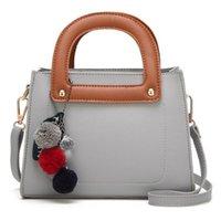 Messenger Bags New Fashion Famous Brand Korean Version Ladies Small Square Hair Ball Pendant Single Multi Pochette Accessoires Bestselling Handbag Shoulder Bag