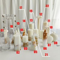 Diy سيليكون جميع أنواع الأشكال العفن شمعة العفن أدوات ديي أدوات الخبز 7 ألوان قالب المطبخ أنماط مختلفة NHE9398