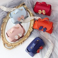Gift Wrap 5Pcs Handbag Wedding Candy Bag Leather Box Chocolate Souvenir Packaging Party Supplies For Children