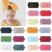Hair Accessories Elastic Soft Nylon Headband Cute 23 Colors Baby Girl Scarf Style Ear