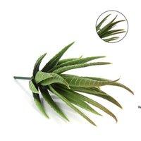واقعية الأخضر فو النباتات النضرة الاصطناعية الألوة أوراق الشجر وهمية البلاستيك الأخضر الصبار المنزل حديقة الديكور النباتات الاصطناعية DHD6048