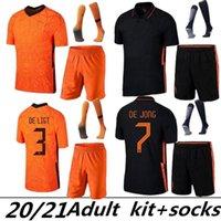 Взрослый комплект + носки 20 21 22 Нидерланды Домашний футбол Джетки Memphis Jong Holland de Light Strootman Van Dijk Virgil 2021 2022 Away Футбольная рубашка