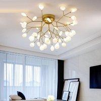 Chandeliers Modern Led Ceiling Chandelier Lighting Living Room Bedroom Creative Home Fixtures Ac110v 220v Glass Shade