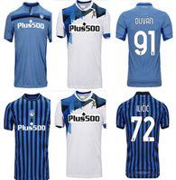 Thailandia2021 Atalanta BC Jersey di calcio Muriel Gomez 2021 Duvan Gosens Camicia da calcio Ilicic Pasalic Miranchuk Lammers Men Kit U