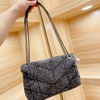 2021 디자이너 가방 여성 대형 tos Loulou Puffer Washed Denim Bags 고품질 어깨 핸드백 두 가지 색상 30 * 19cm