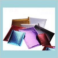 Posta Çantaları Taşıma Ambalaj Ambalaj Ofis Okul Işletme Endüstriyel 20x28 cm Posta Alüminyum Kabarcık Çanta Yastıklı Zarflar Postacılar
