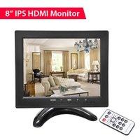 인치 작은 LCD 모니터 휴대용 1024x768 지원 / VGA / AV / BNC / USB 입력 PC CCTV 보안 카메라 모니터