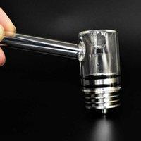 Motar Quartz Wax Vaporizador Vaporizador Acessórios para Fumar Substituições Coilless Atomizer Vidro Tubulação de Vidro Dab Tampa de vidro com bocal e Base