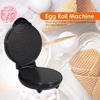 Baking Moulds Electric Crispy Egg Roll Maker Omelet Iron Crepe Pan Waffle Pancake Oven DIY Ice Cream Cone Machine EU Plug
