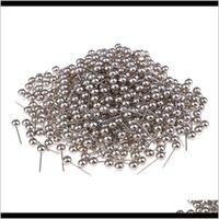 400 pièces de perles de couleur métallique tête push Push ThumbTacks Fournitures de bureau WXZPC Arts et Crafts Mo45V