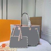 Designer Luxury Nebuafuru MM Shoulder Tote Bag N41361 Damier Azur Women's pouch tote bag Size:32-29-17CM