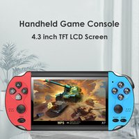 X7 4.3 inch Video Game Console MP5 8GB ROM Double Rocker Dual Joystick Arcade Games Handheld system Player Portable Retro DHL
