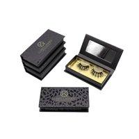 False Eyelashes Luxury Black Gold Holographic Eyelash Case Magnetic Storage Box Wholesale Mink Lashes With Customize Packaging