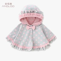 Portez la princesse fille pour enfants double couche bébé cape à capuche cape cape printemps et automne