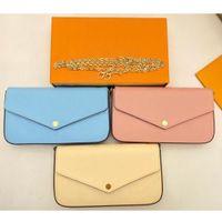 Lederkupplung für Frauen Abendtaschen Karteninhaberpurse Mode Kette Geldbörse Dame Schultertasche Handtasche Clamshell Mini Paket Messenger Bag