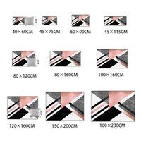 Nordic Geometrische Teppich Modernes Wohnzimmer Dekoration Teppich Schlafzimmer Flur Retallatten Rosa Pink Doormats Lounge Teppich 160x230 1284 V2