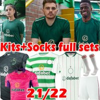 21/22 Celtic Soccer Jerseys Edouard Brown Duffy Taylor Christie Fans Player Version Jersey 2021 2022 de Ley Portero para hombres Kit Kit Kits Socks Fulls Football Shirt
